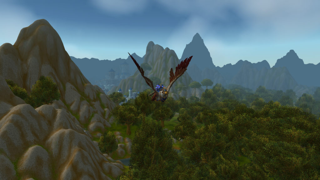 Wow screenshot of Paladin on flying mount
