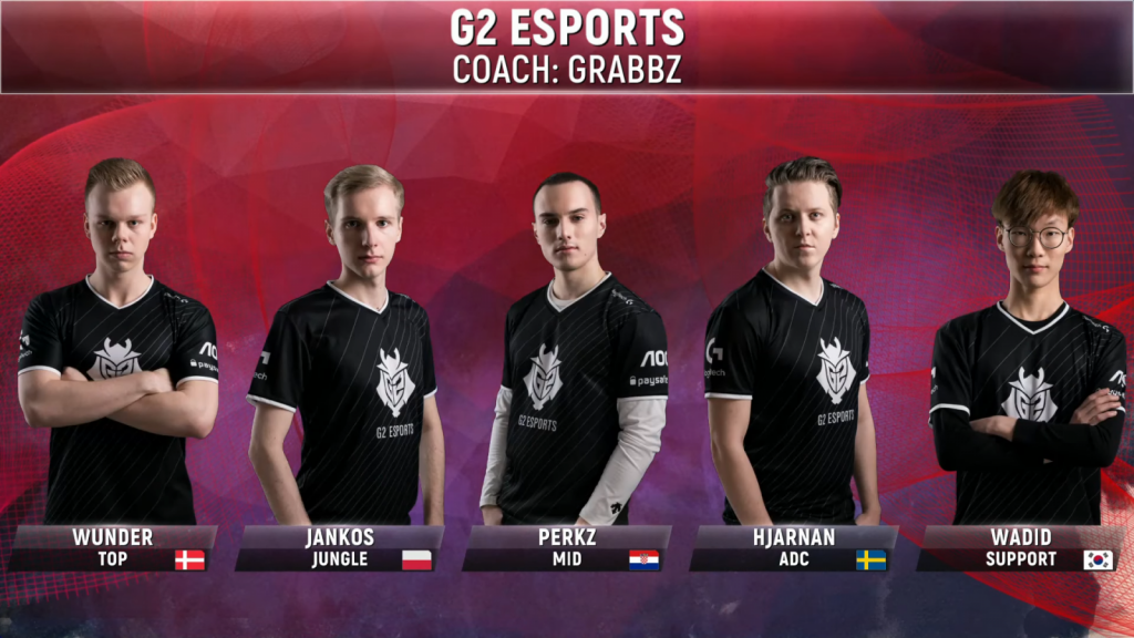 Image of G2 Esports line up