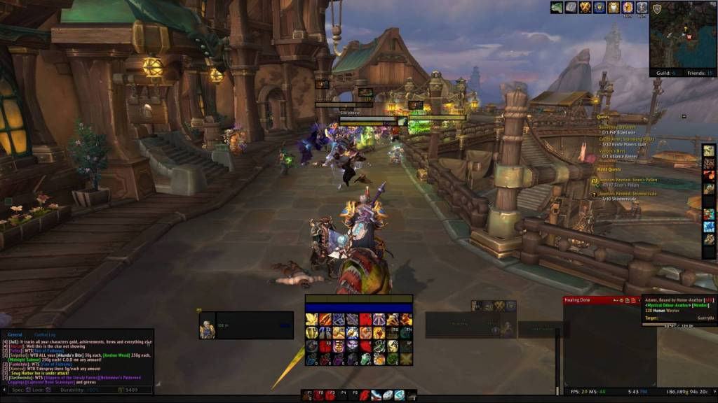 Screenshot of a Horde raid on Boralus in BFA