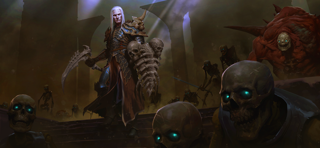 Image of necromancer in diablo
