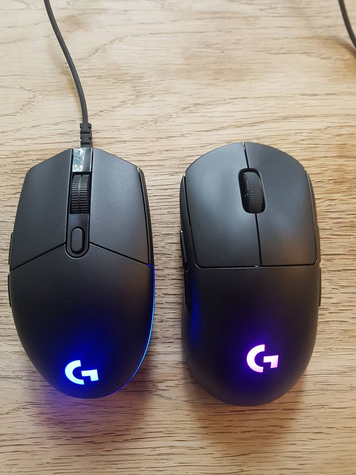 Image of Logitech Pro mice side by side