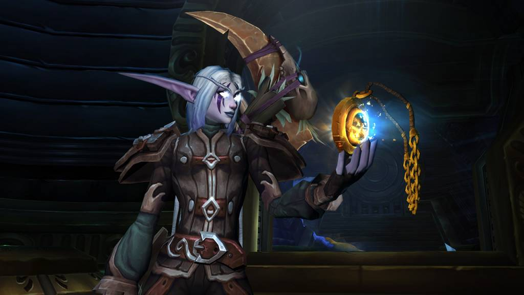 Screenshot of obtaining the Heart of Azeroth in Wow