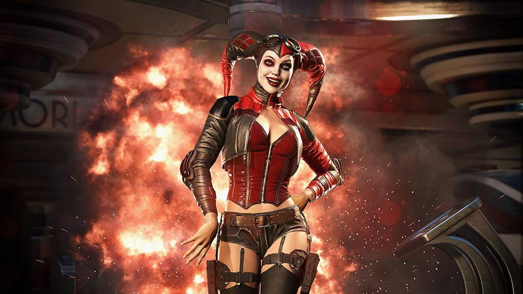 Screenshot of Harley in Injustice 2
