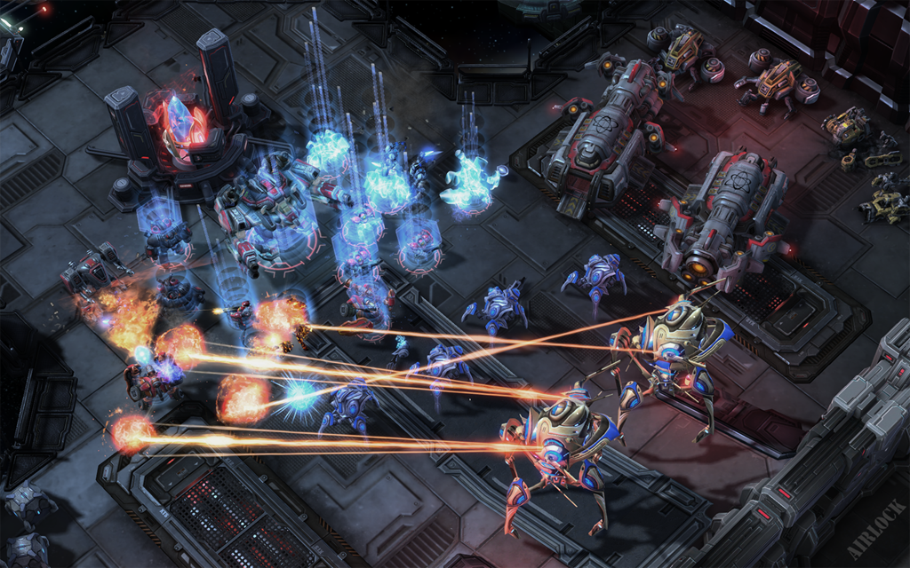 Screenshot from Starcraft 2 multiplayer