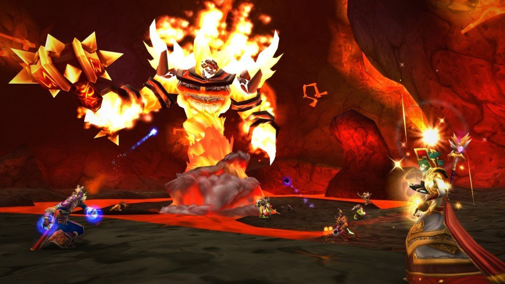 Screenshot from molten Core in World of Warcraft