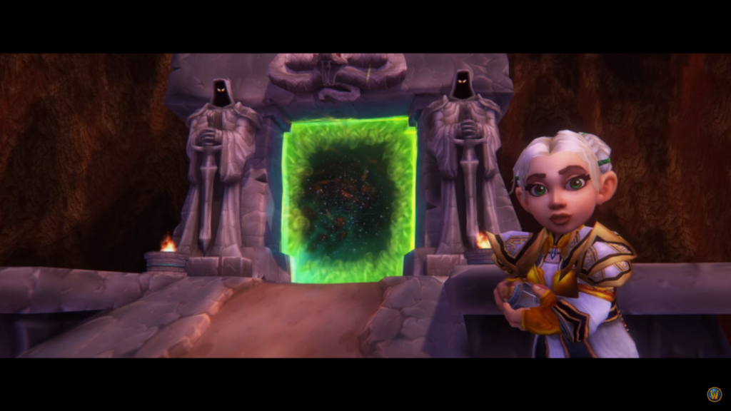 Still of Chromie from World of Warcraft Classic Cinematic