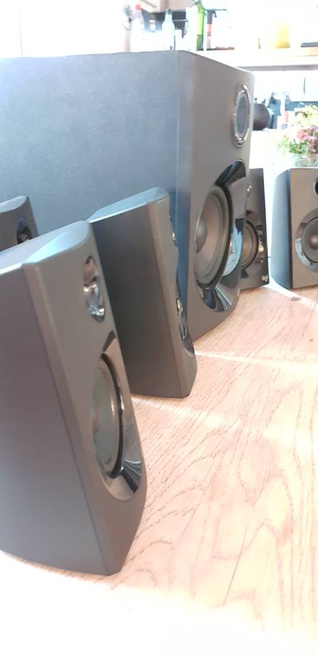 Sideview image of my Z607 surround sound speakers