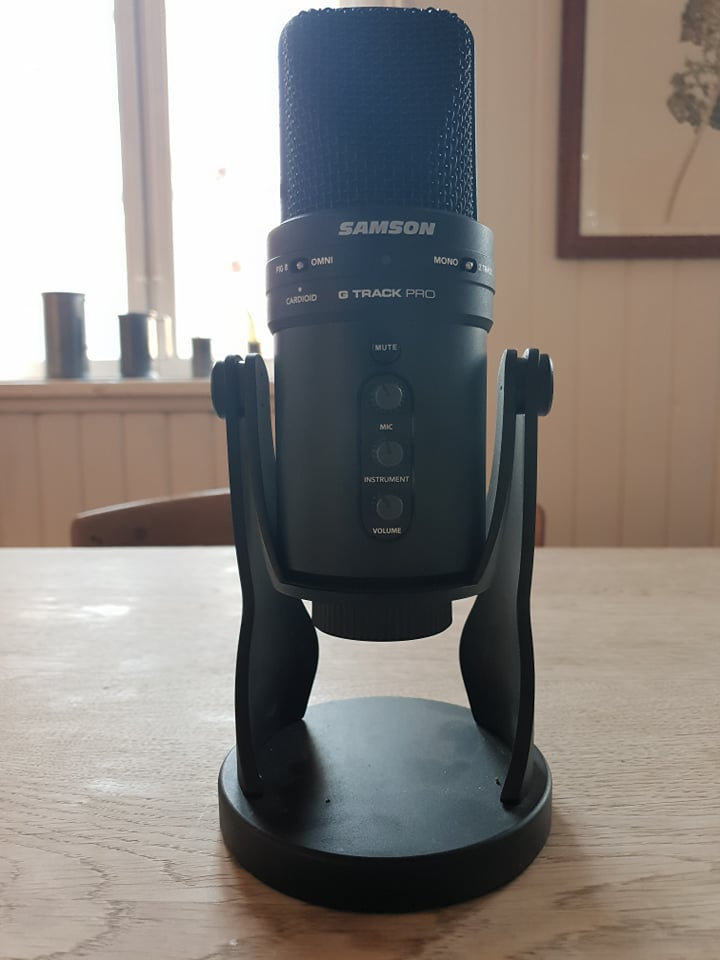 Frontal image of PC usb microphone