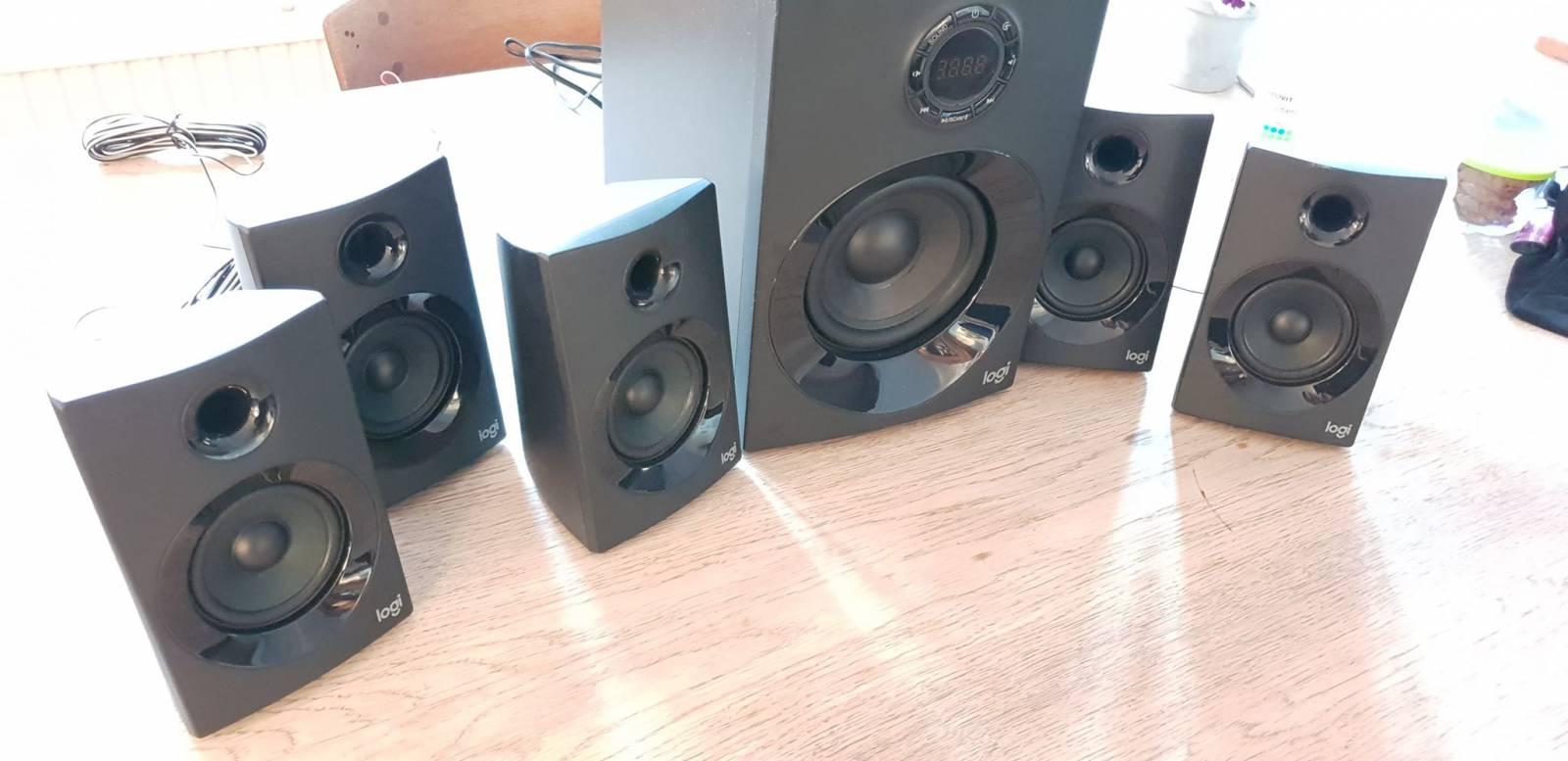 Birdseye view of speakers