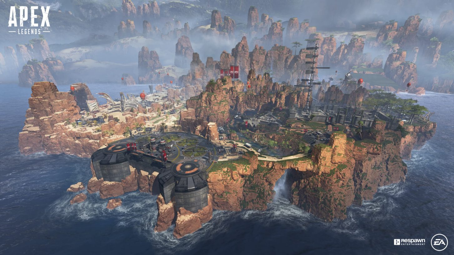 Image of the map in Apex Legends