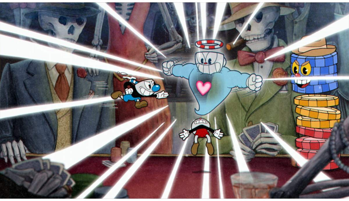 In-game screenshot from Cuphead on Xbox