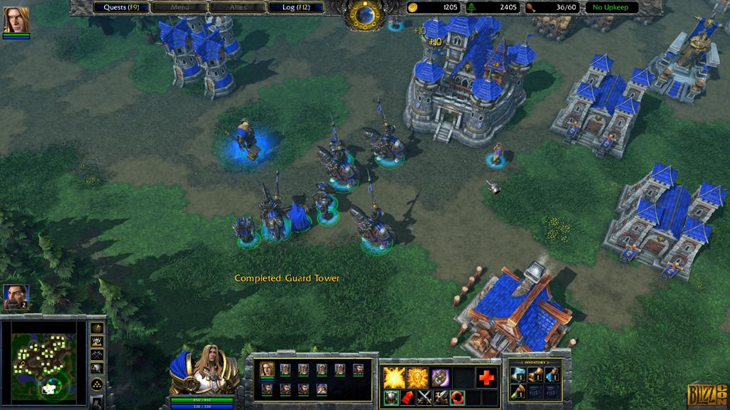 Screenshot taken from Warcraft 3 reforged demo