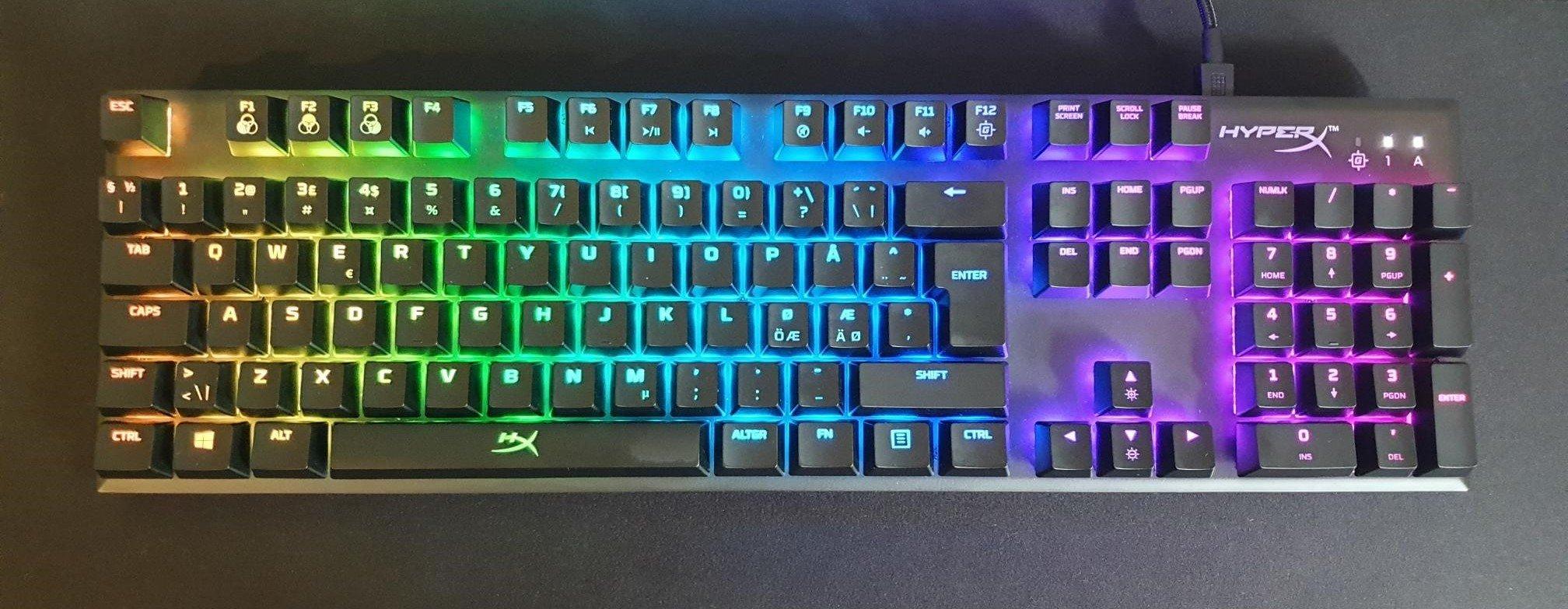 Image of my own HyperX mechanical keyboard