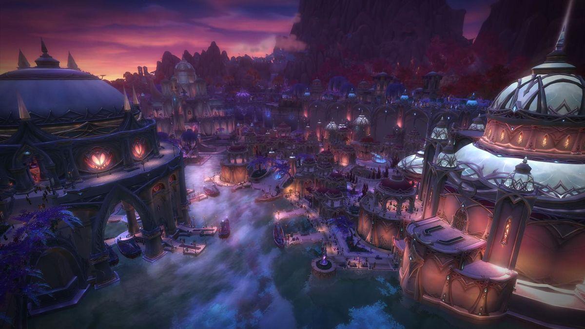 Screenshot of Suramar in Wow Legion