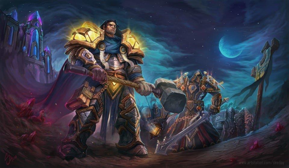 art of World of Warcraft paladins