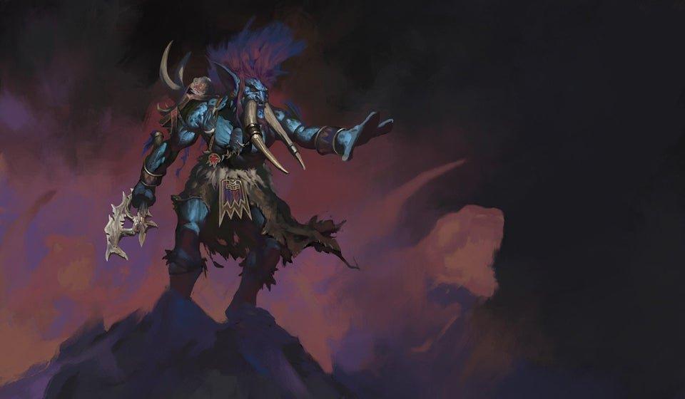 fan art of troll shaman