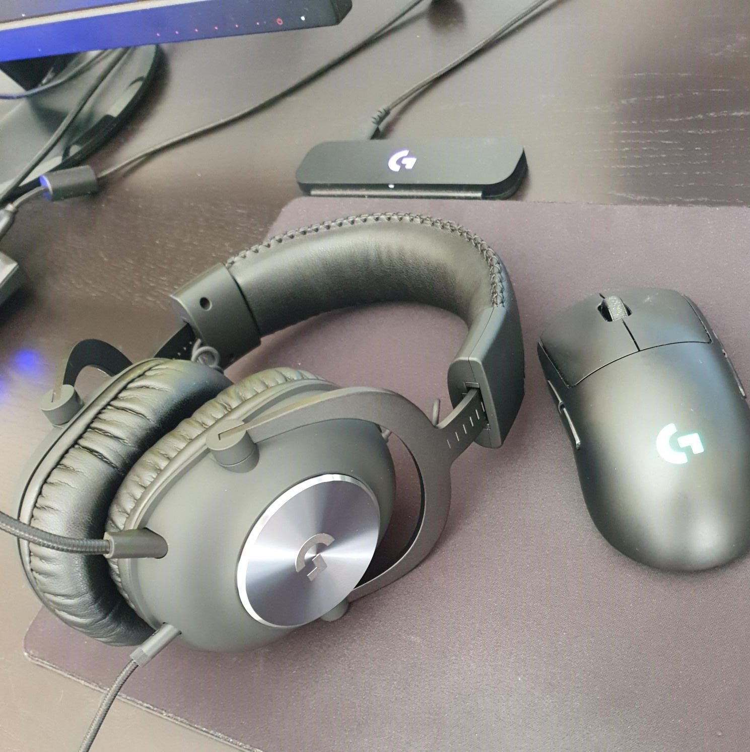 Image of Logitech G Pro mouse and headset