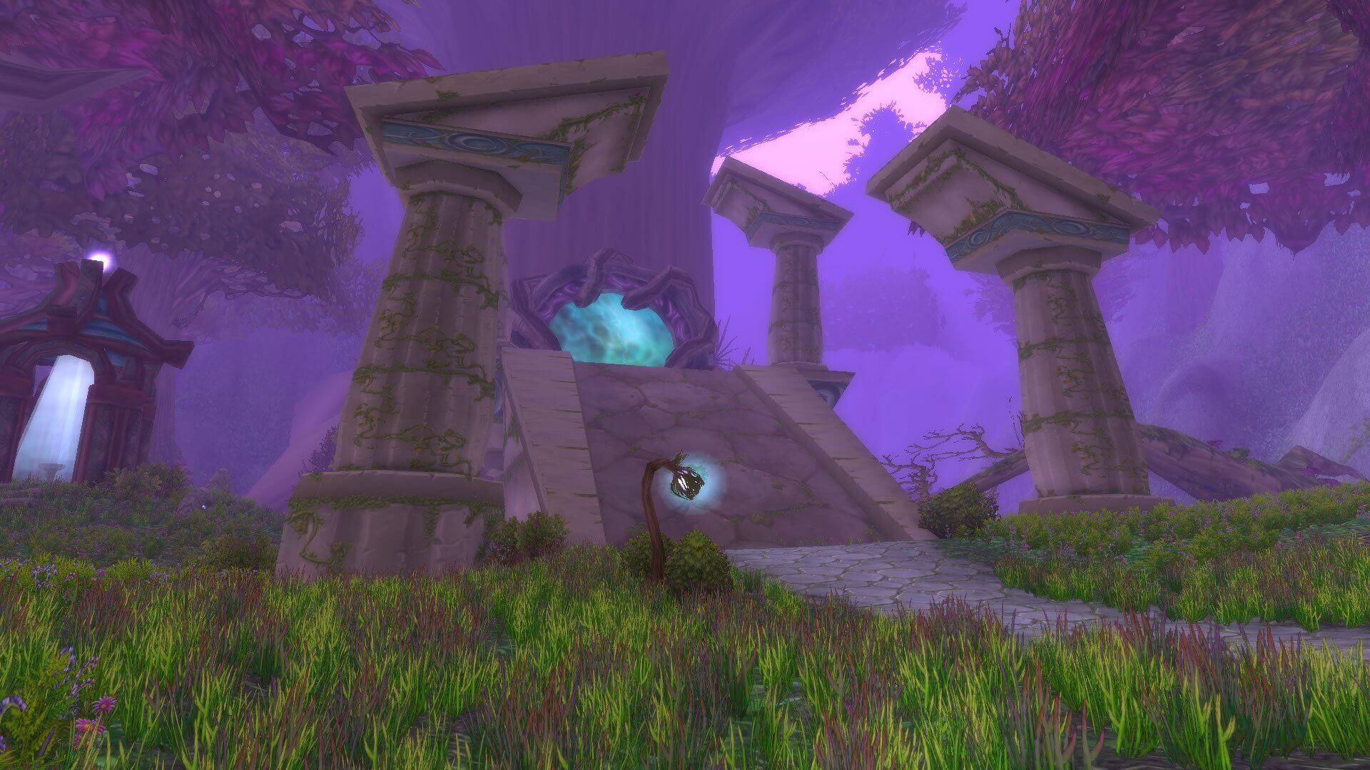 Screenshot of the Twilight Grove in WoW Classic